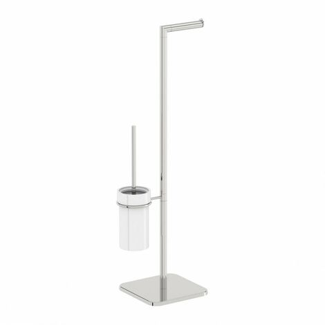 Accents Options round freestanding ceramic bathroom butler