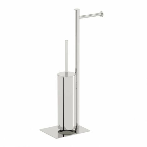 Accents Options square freestanding stainless steel bathroom butler