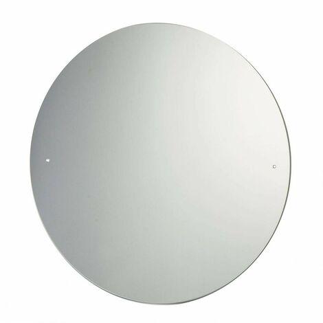 Accents round bevelled edge drilled bathroom mirror 600 x 600mm