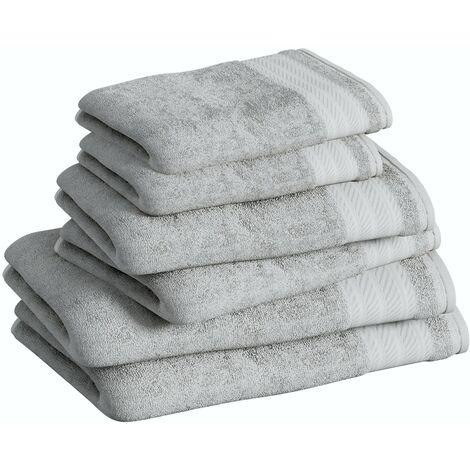 Accents silver 6 piece towel bale