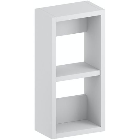 Accents Slimline white wall hung open storage unit 400 x 200mm