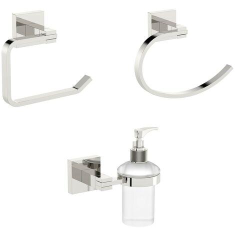 Accents square cloak room 3 piece accessory set