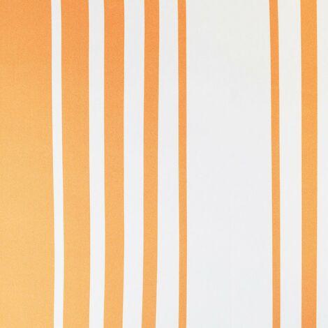 Accents Stripes Wallpaper Debona Orange Beige Textured Embossed Vinyl