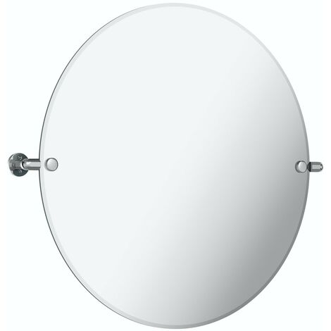Accents Traditional round pivot bathroom mirror 500 x 500mm