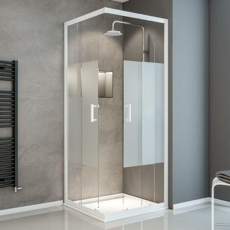 Accès d'angle avec portes de douche coulissantes, verre 5 mm, Sunny, Schulte, différents modèles