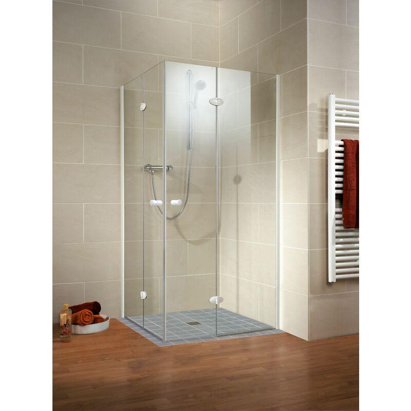 Acc s d 39 angle avec portes de douche pivotantes pliantes Porte de douche pliante 100
