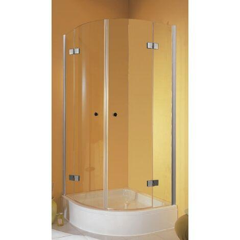 Accès d'angle circulaire 90 x 90 x 190 cm, portes de douche pivotantes, quart de cercle, verre 5 mm, YoungLine, Schulte - Transparent