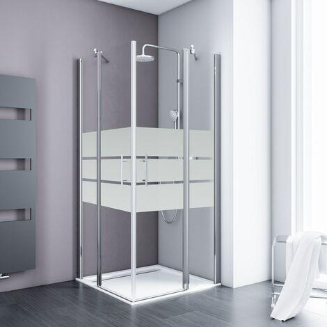 Accès d'angle droit, portes de douche battantes, verre 5 mm anticalcaire, Style 2.0, Schulte, dimensions et décors au choix