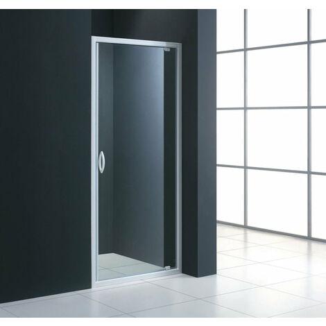 Acces face ALTERNA MEZZO porte pivotante extensible de 75 a 79 cm verre transparent, Ref.LZ9F750