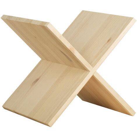 Accesorio aspa de madera de pino para estantería modular Dinamic 32,5x32,5x33 cm