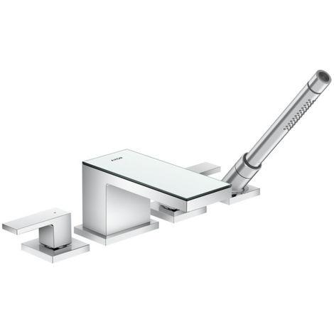 Accesorio de borde de bañera de 4 orificios AXOR MyEdition de Hansgrohe, color: cristal cromado / espejo - 47430000