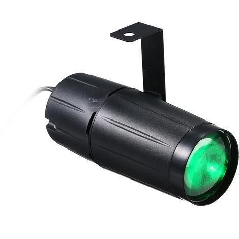 Accesorio de iluminacion de luz LED Stage Beam Spot, AC90-240V 10W,Luz verde