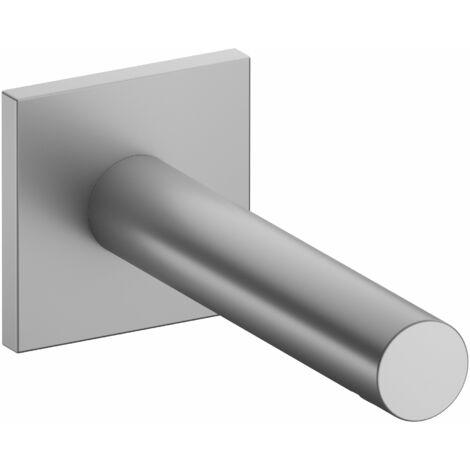 Accesorio Keuco IXMO 59545, caño de bañera, roseta cuadrada, 202mm, color: acabado en aluminio - 59545170102