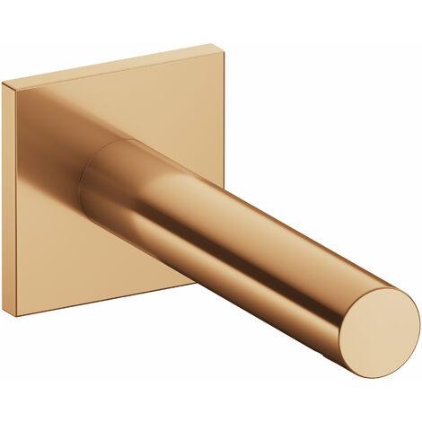 Accesorio Keuco IXMO 59545, caño de bañera, roseta cuadrada, 202mm, color: bronce cepillado - 59545030102