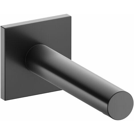 Accesorio Keuco IXMO 59545, caño de bañera, roseta cuadrada, 202mm, color: Negro cromo cepillado - 59545130102