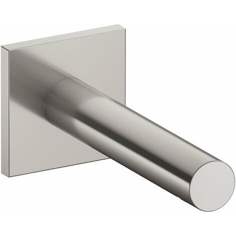 Accesorio Keuco IXMO 59545, caño de bañera, roseta cuadrada, 202mm, color: níquel cepillado - 59545050102