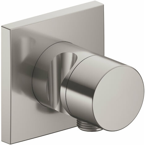 Accesorio Keuco IXMO 59548, válvula conmutadora de 3 vías con conexión de manguera y soporte oculto del cabezal de ducha, mango puro, color: bronce cepillado - 59548030202