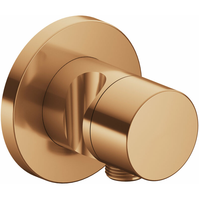Accesorio IXMO 59548, válvula conmutadora de 3 vías con conexión de manguera y soporte oculto del cabezal de ducha, mango puro 59548, color: bronce