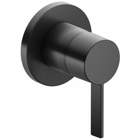 Accesorio Keuco IXMO 59551, juego completo de grifería monomando DN15, para montaje empotrado, roseta redonda, color: Negro cromo cepillado - 59551139501
