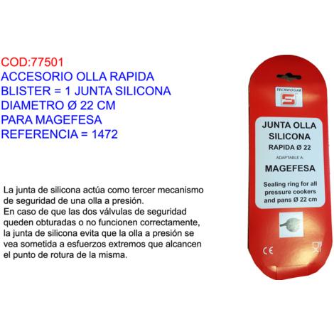 ACCESORIO OLLA RAPIDA BL=1 JUNTA SILICONA Ï=22 CM MAGEFESA=1472