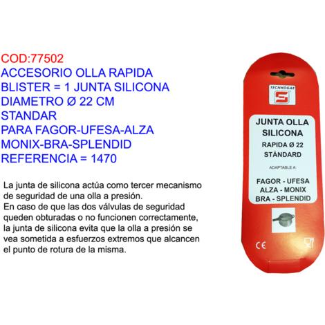 ACCESORIO OLLA RAPIDA BL=1 JUNTA SILICONA Ï=22 CM STANDAR=1470