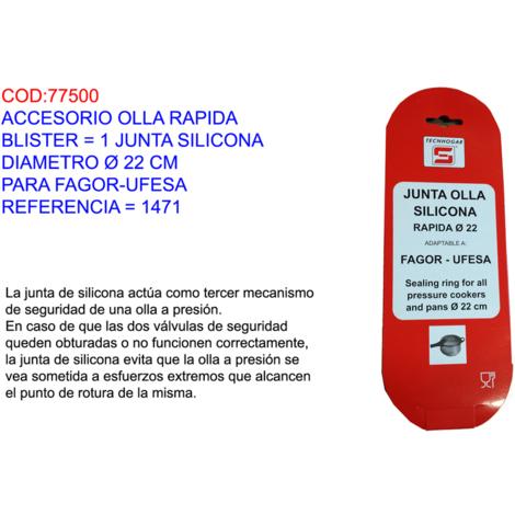 ACCESORIO OLLA RAPIDA BL=1 JUNTA SILICONA Ï22CM FAGOR-UFESA=1471