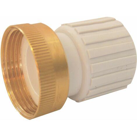 Accesorio para tubería de PVC flexible, espiga sin pegamento y tuerca hembra 33x42