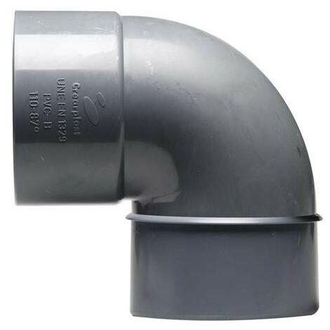 ACCESORIO PVC CODO MACHO-HEMBRA 90-87º