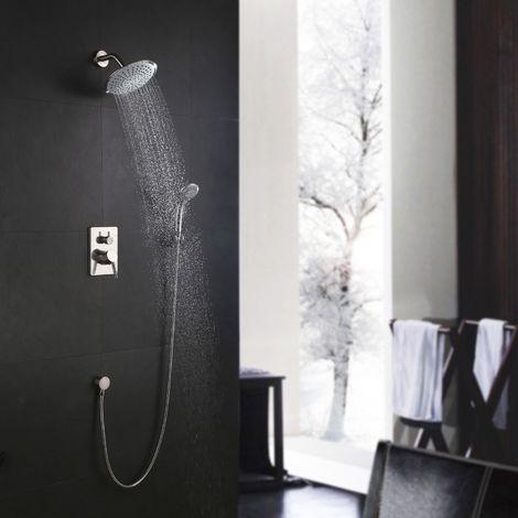 Accesorio redondo moderno para ducha de níquel oculto