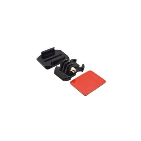 Accesorio soporte adhesivo curvo 3m para casco phoenix para fijar camaras sport & gopro hero 4 - 3+ - 3 - 2 - 1 de color negro helmet curved surface & mount