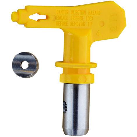 Accesorios de boquillas de boquilla de boquilla sin aire de alta presion electrica, amarillo