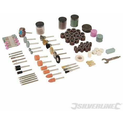 Accesorios para herramientas rotativas, 216 pzas, Vástago 3,17 mm