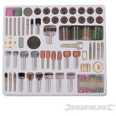 Accesorios para herramientas rotativas. 216 pzas (Vástago 3.17 mm)