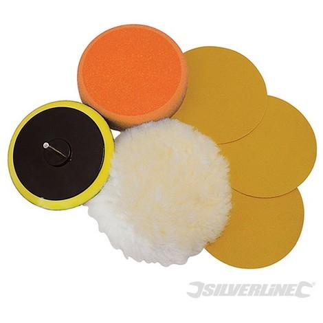Accesorios para lijado y pulido. 6 pzas (125 mm)