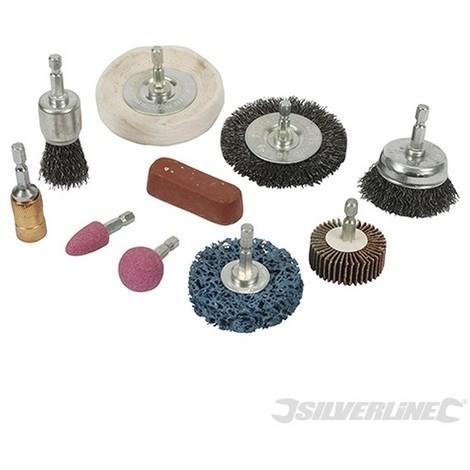 Accesorios para limpieza y pulido. 10 pzas (6 mm)