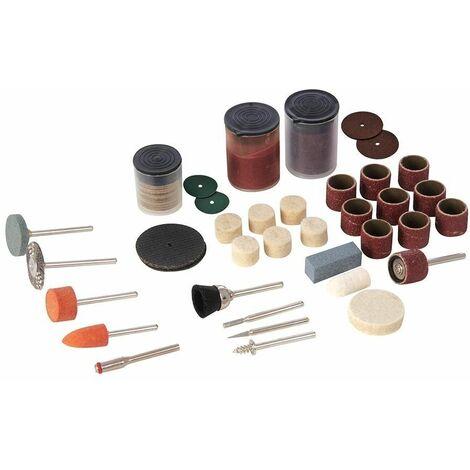 Accesorios variados para herramienta rotativa, 105 pzas SILVERLINE 349758