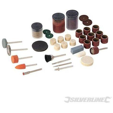 Accesorios variados para herramienta rotativa, 105 pzas, Vástago Ø3,17 mm