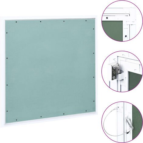 Access Panel with Aluminium Frame and Plasterboard 600x600 mm
