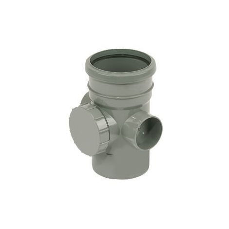 Access Pipe Single Socket Grey Soil