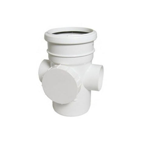 Access Pipe Single Socket White Soil