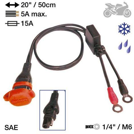 Optimate Om O02 SAE72 Adaptateur en Fiche Auto//Moto