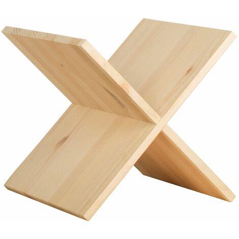 Accessoire croix en pin pour étagères modulaires Dinamic 32,5x32,5x33 cm