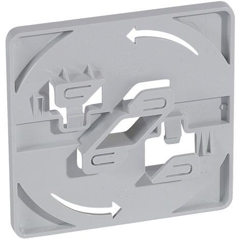 Accessoire de fixation pour chemin de câble fil - sans vis - pr boite 105x105 mm
