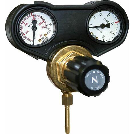 Accessoire pour onduleur manuel E reducteur de pression p gaz de soudure 2 manometres, 30 L/min, max 315 bars