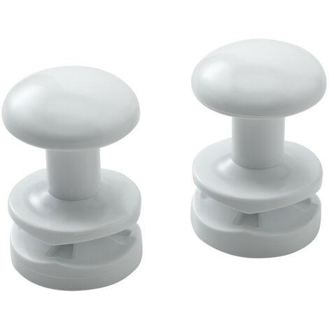 Accessoire sèche-serviette patère ronde blanc par 2 (498013)