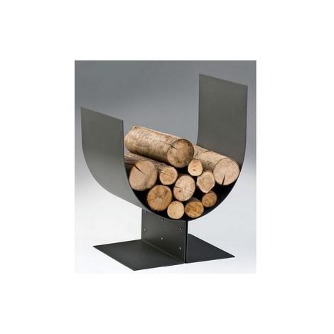 Accessoires cheminée porte buches inox et fer