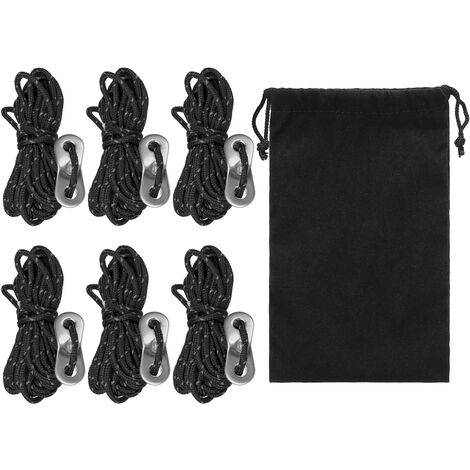 Accessoires de tente d'auvent de boucle de corde de vent de polyester