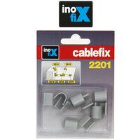 Accessoires droits pour Cablefix 2201 gris metallisé - Inofix