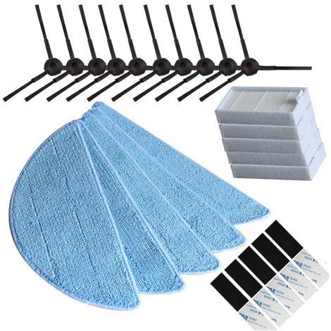 Accessoires pour aspirateurs 5 groupes, balayeuses, filtres, brosses latérales et lingettes pour ilife v5s modèle ilife v5 pro ilife x5 V3 + V5 V3 v5pro