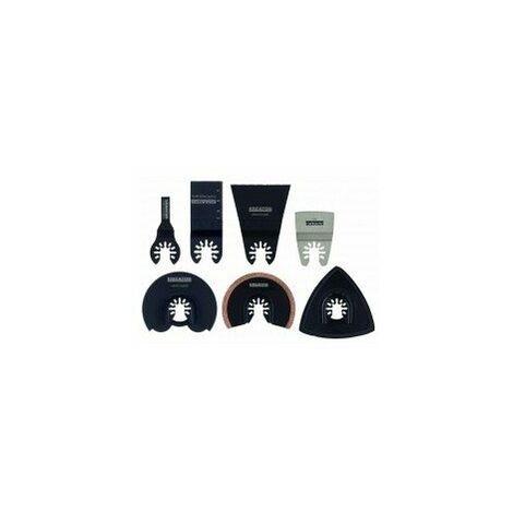 Accessoires pour outil oscillant multifonctions boîte mallette 20 pièces8 lames + 12 patins d